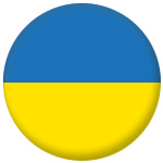 Ukraine Country Flag 58mm Button Badge